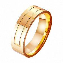 Золотое обручальное кольцо Статус