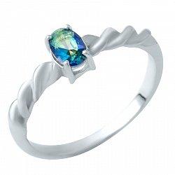 Серебряное кольцо Снежана с топазом мистик