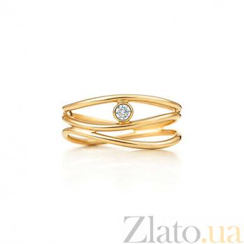 Кольцо из желтого золота с бриллиантом Elsa Peretti R-Tif(Elsa)-E-diam