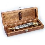 Серебряный подарочный нож Петух