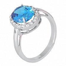 Серебряное кольцо с голубым фианитом Властилина
