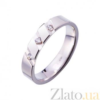 Золотое обручальное кольцо Эхо с фианитами TRF--4221068