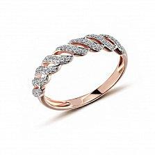 Кольцо в красном золоте Каравелла с бриллиантами