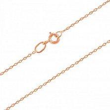 Золотая цепочка Агора в классическом якорном плетении, 1мм