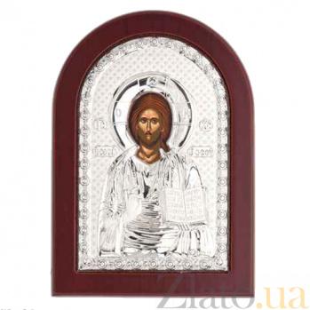 Иисус Христос икона серебряная AQA--MA/E1107D