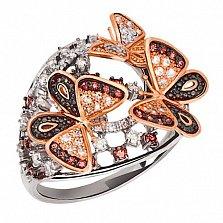 Кольцо в двух цветах золота Бриджид