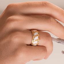 Женсоке обручальное кольцо Небесные Крылья с белой эмалью, сапфирами и бриллиантами