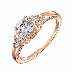 Кольцо из красного золота с кристаллами Swarovski 000135650