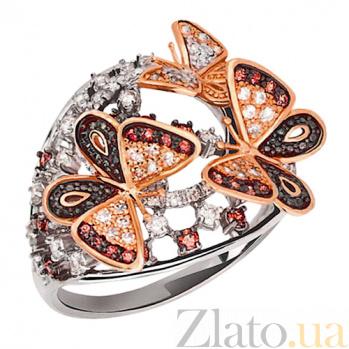 Кольцо в двух цветах золота Бриджид VLT--ТТ1138-2