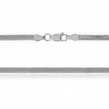 Серебряная цепь Фиона с родированием, 45 см