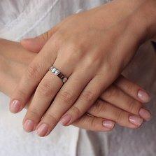 Серебряное кольцо Мирена с фианитом в стиле Картье
