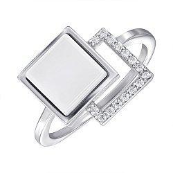 Кольцо серебряное с керамикой и фианитами 000147854