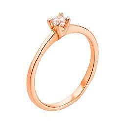 Золотое кольцо с цирконием Metis