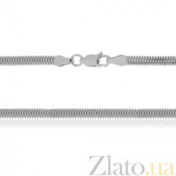 Серебряная цепь Фиона с родированием, 45 см 000027369