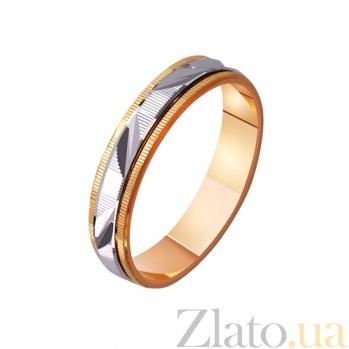 Золотое обручальное кольцо Весенняя романтика TRF--421084