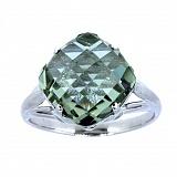 Серебряное кольцо с празиолитом Зореслава