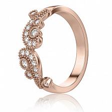 Кольцо обручальное в розовом золоте Долина грез: Ты судьба моя