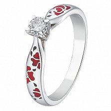 Кольцо с бриллиантом Маки