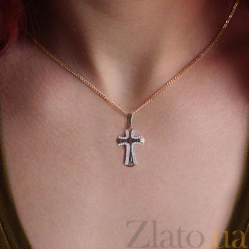 Золотой крестик Вера с бриллиантами VLA--33310