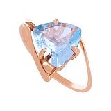 Золотое кольцо с голубым топазом Шарлиз