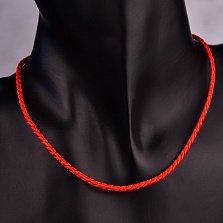Красный шелковый шнурок Ветер с серебряным замком,2.5 мм