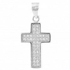 Серебряный крест Ирида с фианитами