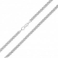 Серебряная цепочка родированная Нонна, 4мм