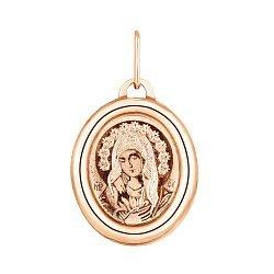 Ладанка из красного золота Матерь Божия 000119563