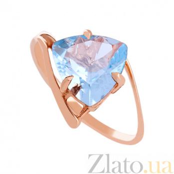 Золотое кольцо с голубым топазом Шарлиз VLN--112-003-1