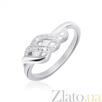 Серебряное кольцо Одетти с фианитами 000030941