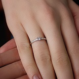 Кольцо из белого золота с бриллиантами  Ami