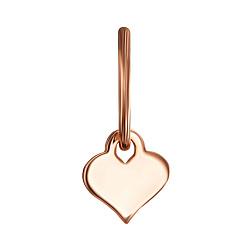 Серебряная подвеска в форме сердца с позолотой 000121488