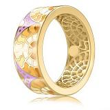 Золотое обручальное кольцо Талисман: Счастья