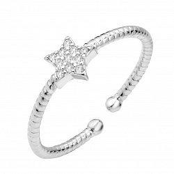 Серебряное кольцо с фианитами 000112719