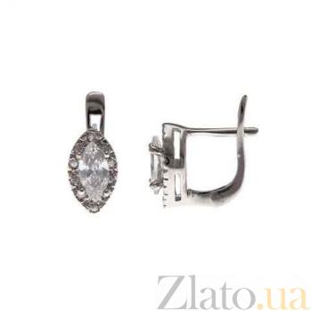 Серебряные серьги Маркиз AQA--MS-148(S)-E