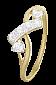 Серебряное кольцо Клеменс с фианитами и позолотой 000025623