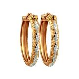 Золотые серьги Диадора с алмазными гранями, Ø3см