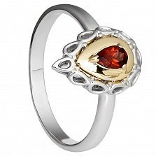 Золотое кольцо Империя с гранатом