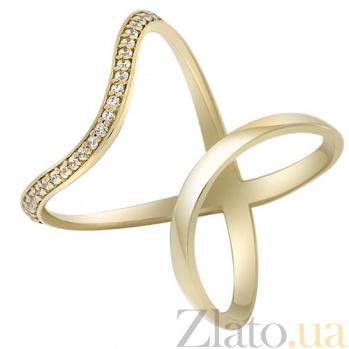 Золотое кольцо на фалангу с фианитами Киприотис 000032762