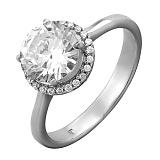 Серебряное кольцо с фианитами Жанна
