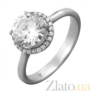 Серебряное кольцо с фианитами Жанна 000029158