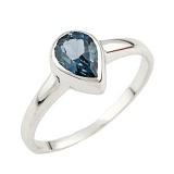 Серебряное кольцо Лаванья с синтезированным топазом лондон