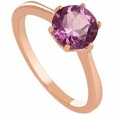 Золотое кольцо с аметистом Брайди