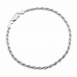 Серебряный браслет с родированием, 3 мм 000071836