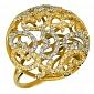 Кольцо из желтого золота с цирконием Айлин VLT--ТТ1078-1