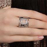 Серебряное кольцо с фианитами Фрейя