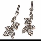 Серьги Hera с коньячными бриллиантами