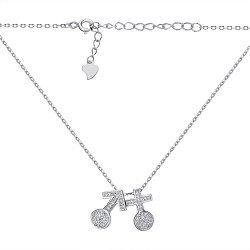 Колье из серебра с фианитами 000145094