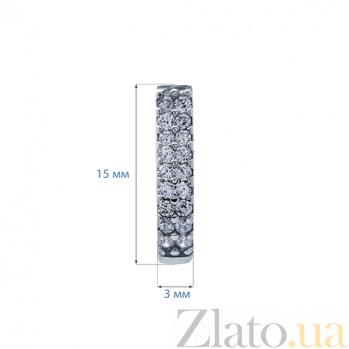 Серебряные серьги Дива AQA--К-20111
