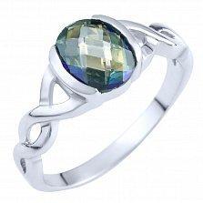 Кольцо из серебра Селена с топазом мистик